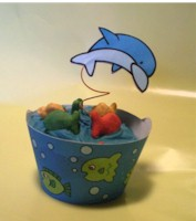 Image of Dolphin Cupcake Decorations