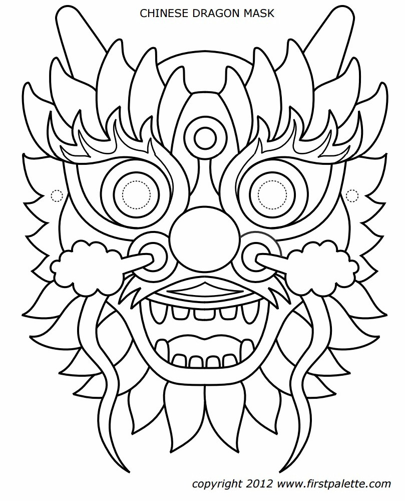 dragon-mask-pattern