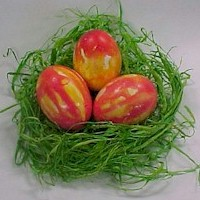 Image of Colorful Tissue Paper Easter Egg