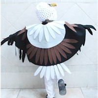 how to make a paper eagle with wings