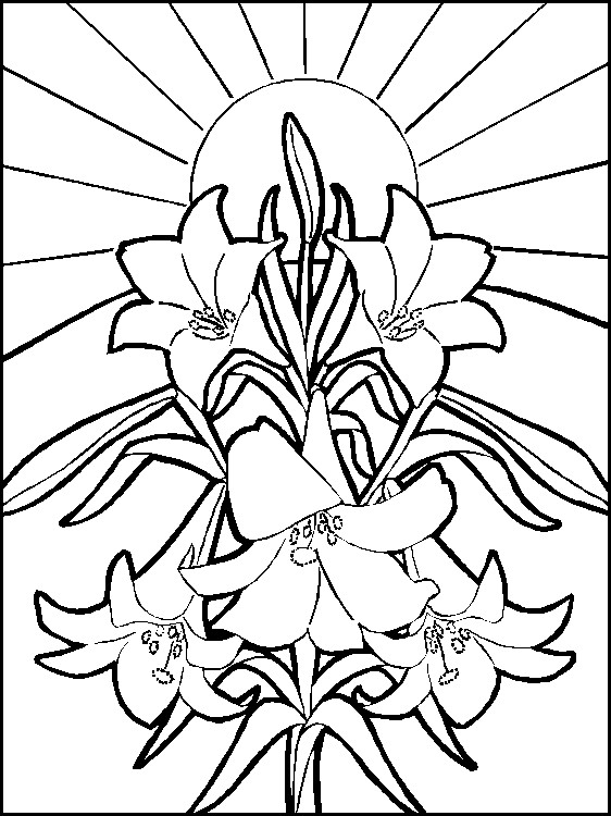 Image of Easter Coloring Page