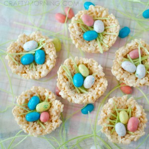 Easter Rice Krispie Nests