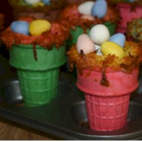 Image of Easter Rice Krispie Nests