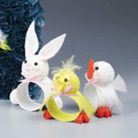 Image of Beaded Bunny Napkin Rings