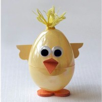 Plastic Easter Egg Chick