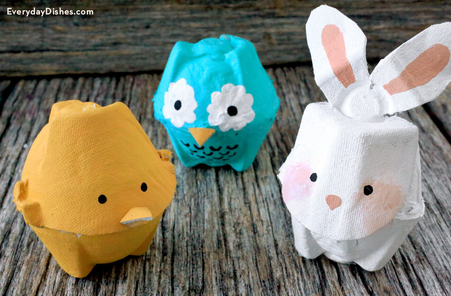 Image of Recycled Egg Carton Animals