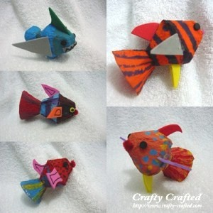 Image of Recycled Egg Carton Fish Craft