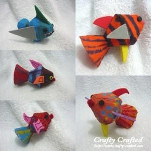Recycled Egg Carton Fish Craft