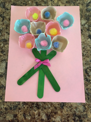 Art and craft ideas with egg cartons Egg carton flowers ideas