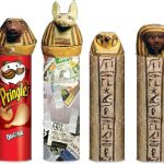 Paper Maché Egyptian Canopic Jars