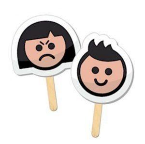 Easy preschool emotion puppet faces