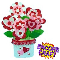 Image of Paper Hearts and  Flowers  Bouquet