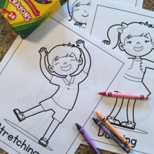 Coloring pages about physical activities for children