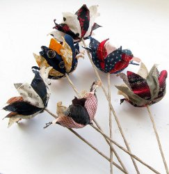 Recycled Fabric Flowers