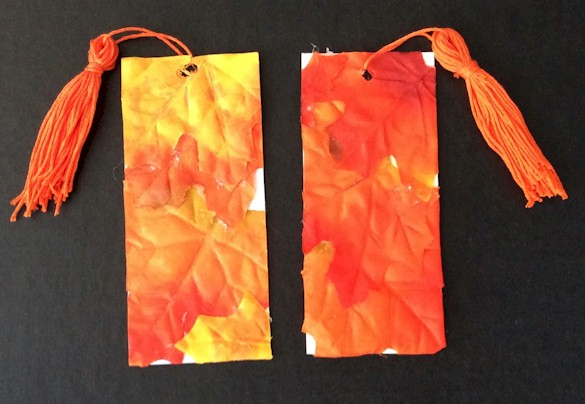 Image of DIY Fall Leaf Bookmark