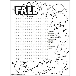 Resource image in fall word search printable
