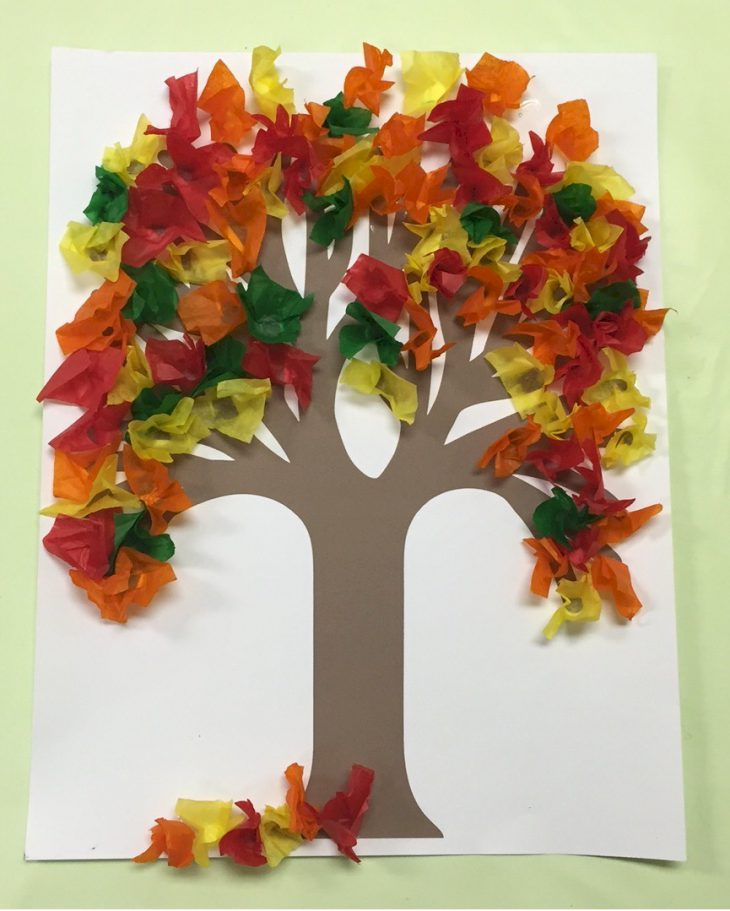 fall tree craft ideas tissue paper crafts 4427