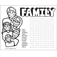 Image of Printable Camping Word Search and Coloring Page
