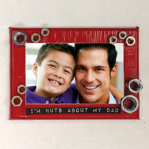 Father's Day Nutty About You Photo Frame