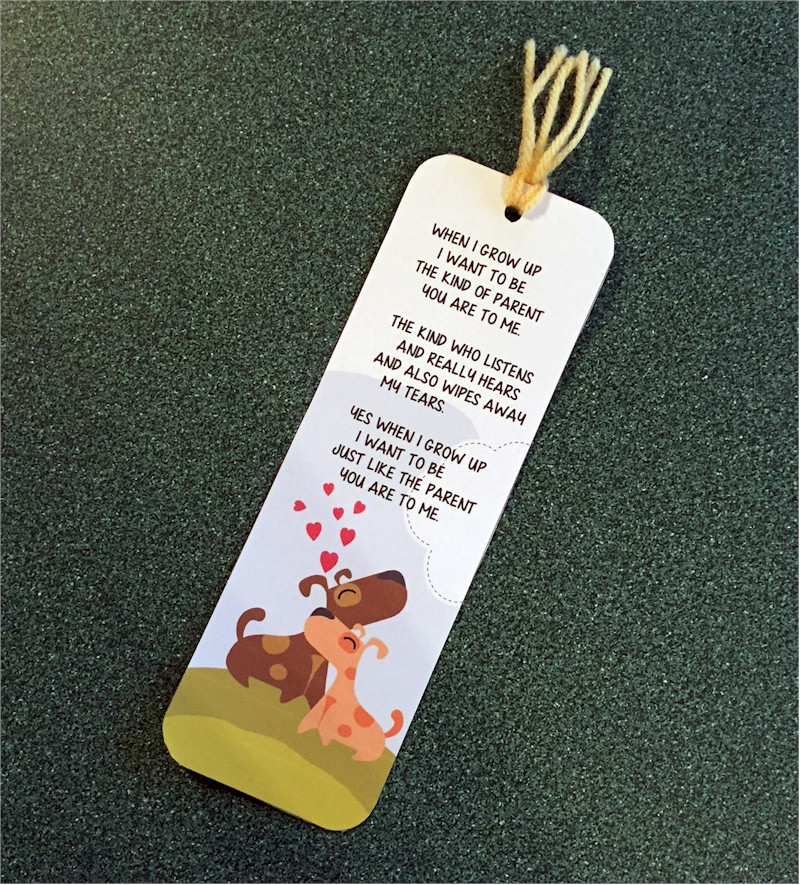 When I Grow Up Father's Day bookmark