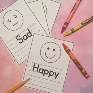 Children learn to recognize feelings with this worksheet.