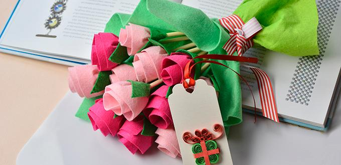 Image of Felt Flower Bouquet