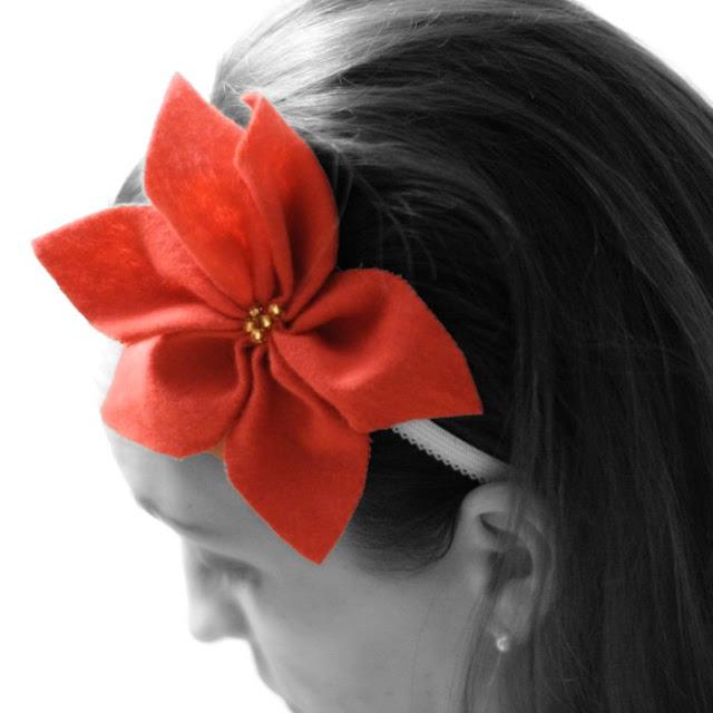 Felt Poinsettia Headband