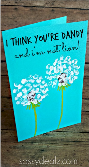 Fingerprint Dandelion Card