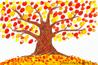 Image of Handprint Autumn Tree