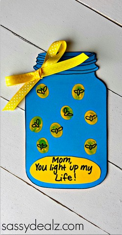 Image of Fingerprint Firefly Mothers Day Card