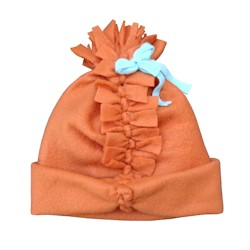 Image of No Sew Fleece Pom Pom Hat