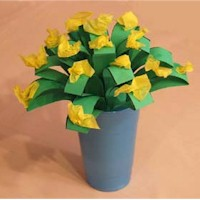 Image of Egg Carton Flower Bouquet