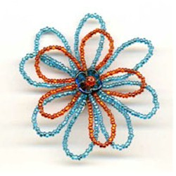 Image of Beaded Flower Shoe Clip