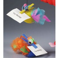 Image of Wacky Clothespin Note Holder Magnet