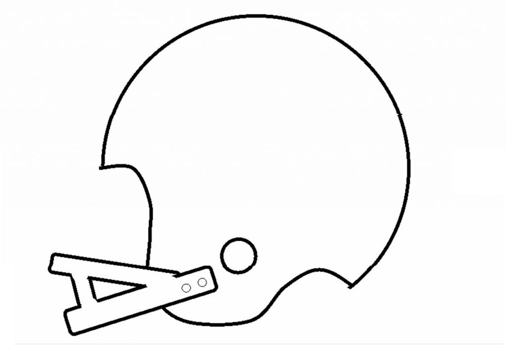 Football Helmet Stencil | Free Kids Crafts