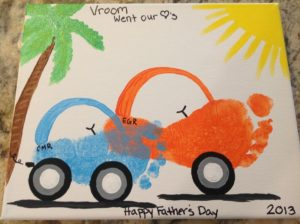 Footprint Car Craft for Young Children