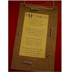 Fathers Day Footprint Card