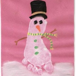 Image of Footprint Snowman