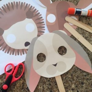 Easy Forest Animals Mask for Young children to make