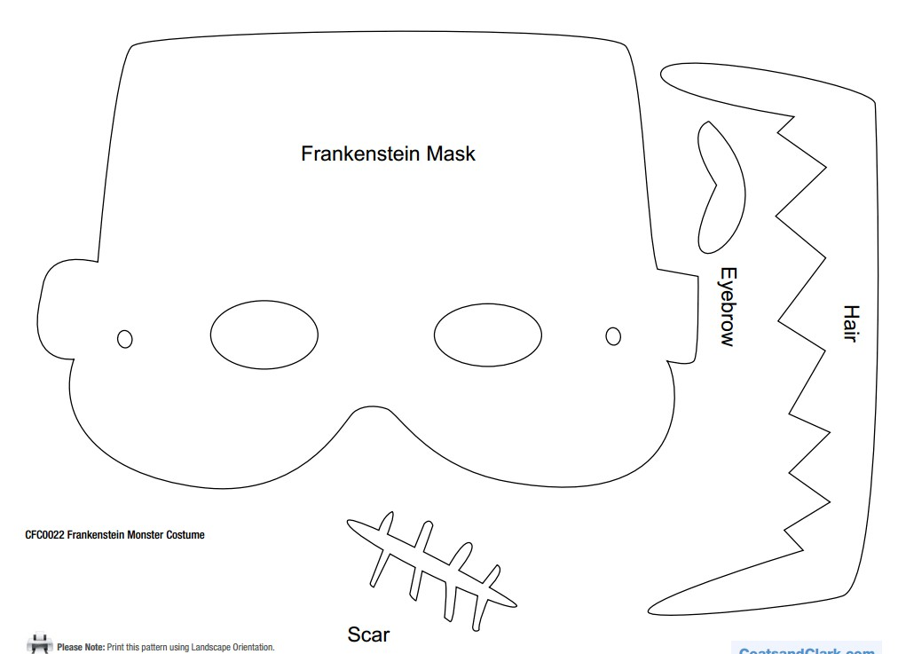 frankenstein-monster-mask-pattern