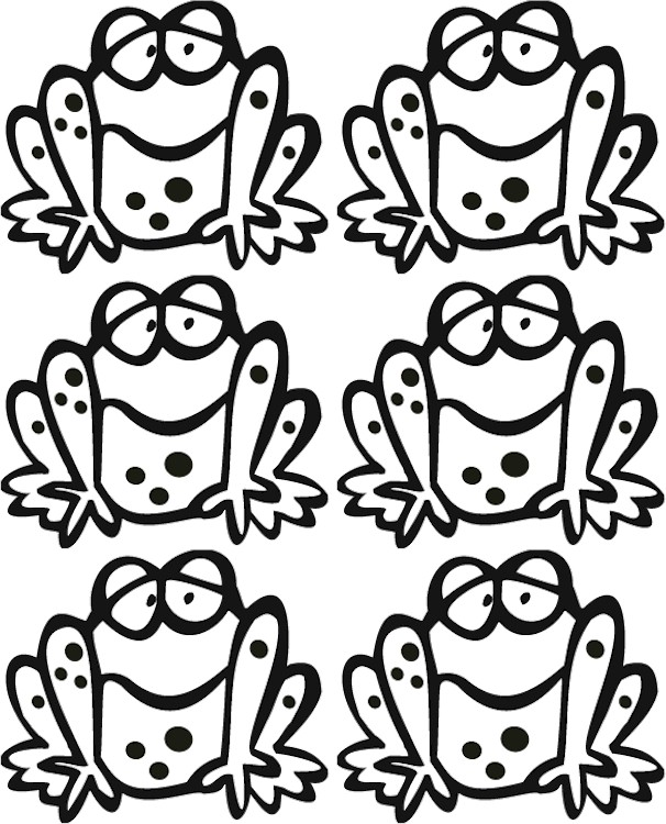 frog-bookmark-pattern-bw