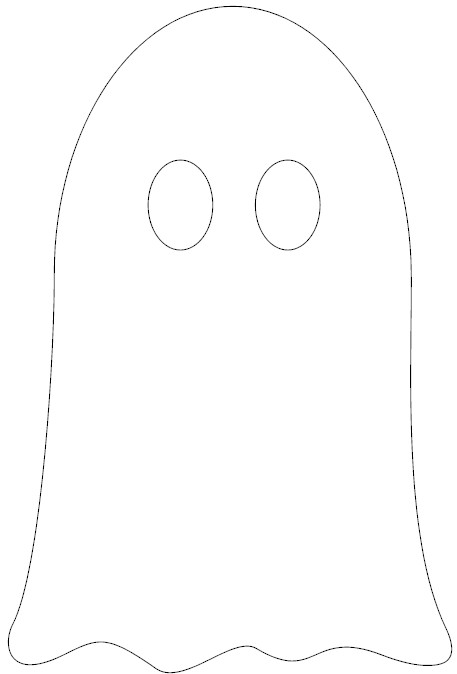 photo relating to Ghost Template Printable called Tissue Paper Ghost Decoration