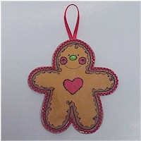 Image of Puffy Gingerbread Ornament