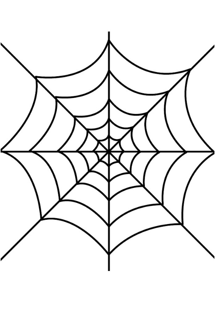 Glue Spider Web Halloween Window Cling