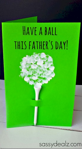 Golf Tee Father's Day Card
