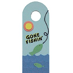 Gone Fishin Door Hanger