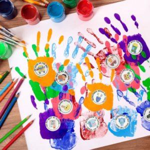 Handprint craft for preschool age children to help them be good citizens.