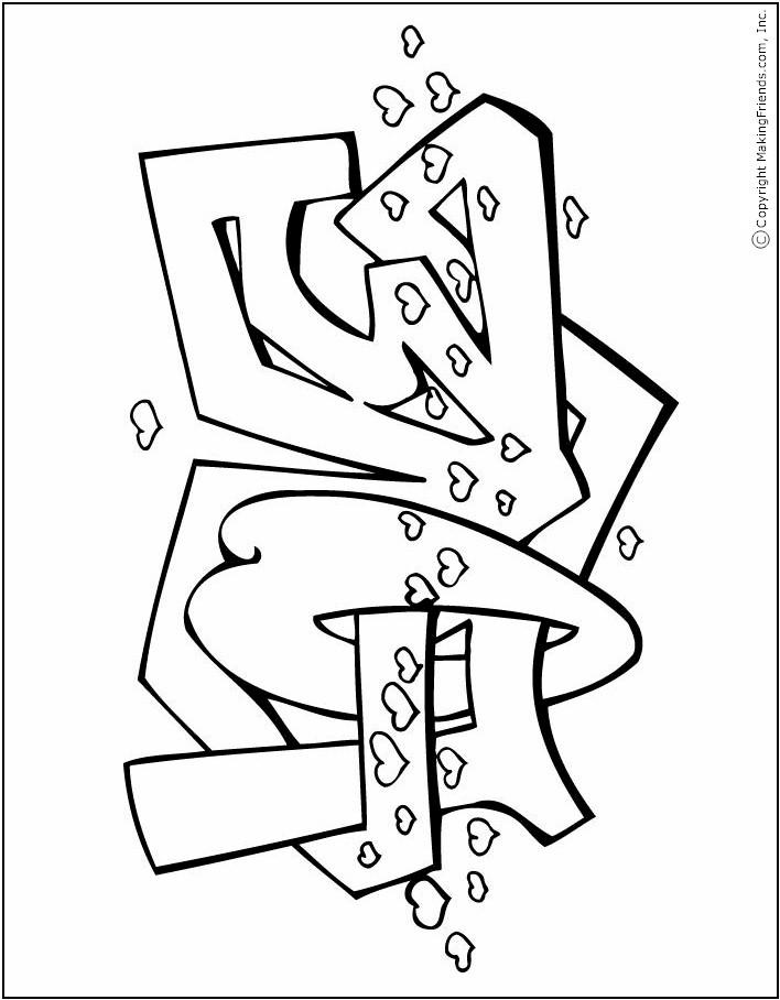 graffiti-valentine-coloring-page
