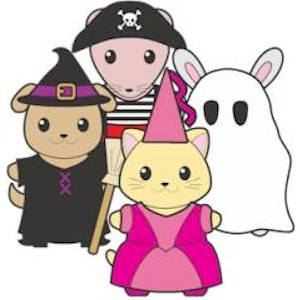Printable Halloween Buddies Paper Dolls