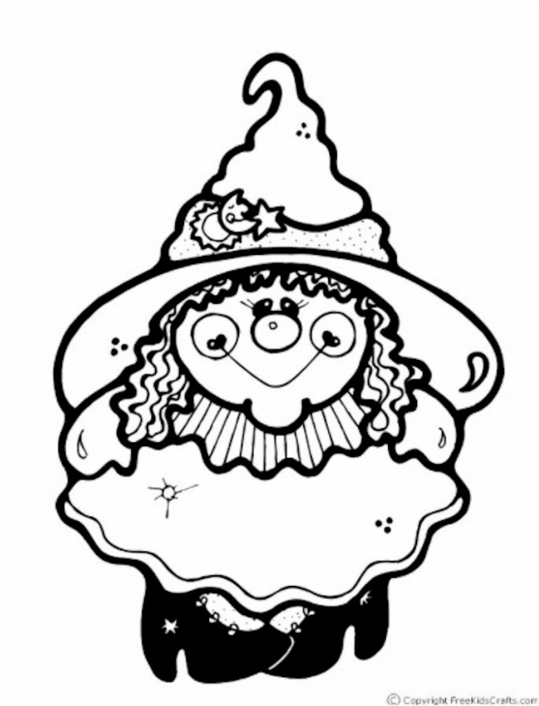 cute witch halloween coloring pages - photo#32
